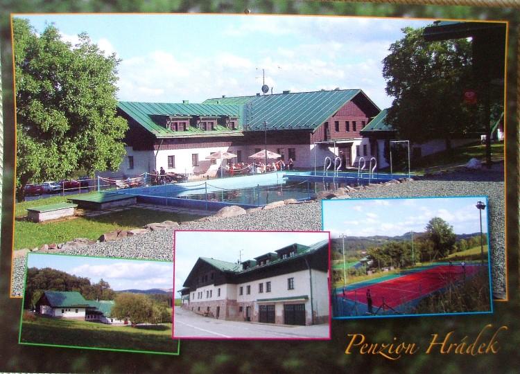 pohled ze školy v přírodě - ZŠ Nové Město nad Cidlinou, penzion Nový Hrádek