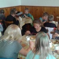 oběd, Škola v přírodě ZŠ Nové Město